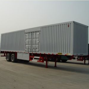 Hot Sale 2 Axles 40t Payload Box Van Cargo Trailer pictures & photos