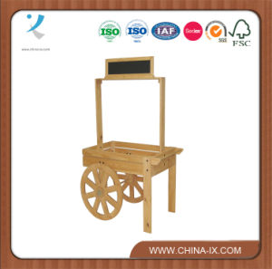 Wooden Vendor Cart with Chalkboard Header pictures & photos