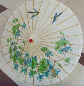 Hand Made Arts Umbrella Parasol with Bamboo Rib (YHS-003)