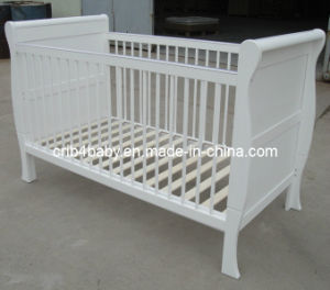 3 in 1 Sleigh Cot Bed 140X70cm -White (TC8043)