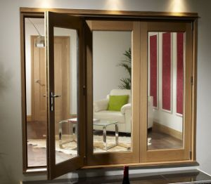 China European Style Solid Wood Aluminum French Door For