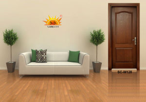 Simple Design Solid Wood Door for Rooms (SC-W136) pictures & photos