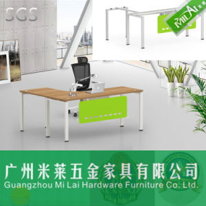 Modern Office &Home Furniture Wooden Table Top with Steel Desk Holder pictures & photos