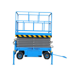4m 500kg Capacity Mobile Scissor Goods Lift with Ce Approved pictures & photos