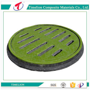 B125 En124 Round Composite Trench Drain Grates Manhole Cover with Frame pictures & photos