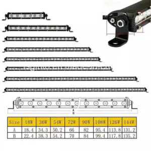 "Hot Selling 3W CREE Single Row Offroad LED Light Bar 7.3""/20""/30""/50inch pictures & photos"