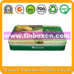 Food Packaging Box Rectangular Tin Can for Metal Candy Box pictures & photos