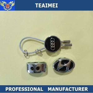 Stainless Steel Wire Custom Black Metal Car Key Ring pictures & photos
