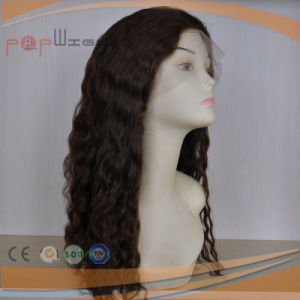 Black Color Wavy Style Hot Fashion Long Human Hair Full Lace Wigs pictures & photos