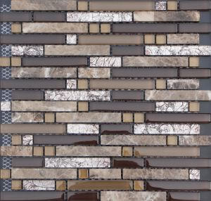 Glass Mosaic Mix Marble, Glass Tile Mosaic Mural Patterns pictures & photos