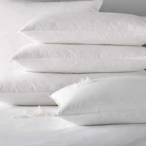 Down-Proof Cotton Shell with White Duck Down Filling Hotel Pillow pictures & photos