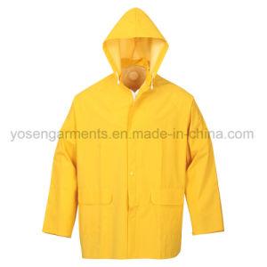 PVC Waterproof Outdoor Clothing Workwear Raincoat Rainwear Rain Suit (RWB01) pictures & photos