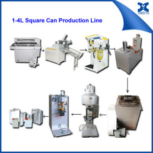 Semi-Automatic 1-4L Paint Oil Square Can Body Maker Machine pictures & photos
