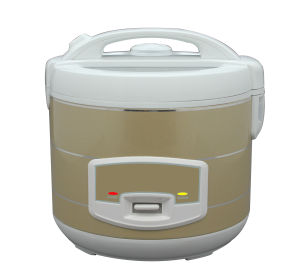 Deluxe Rice Cooker with Glass Window Plastic Handle