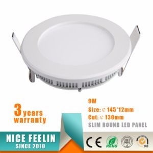 Ce RoHS Approved 9W Ultra Slim Round LED Panel pictures & photos
