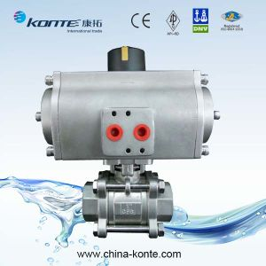 3PC Pneumatic Ball Valve pictures & photos