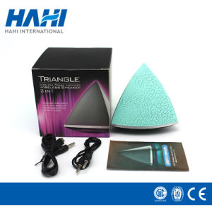 Crack Triangle Colorful Luminous Lamp Bluetooth Small Speaker pictures & photos