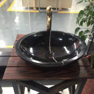 China Nero Marquina Marble Polished Basins/Sinks/Washing Basins pictures & photos