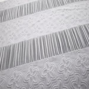 Custom Stretch Spandex White Jacquard Women Garment Fabric pictures & photos