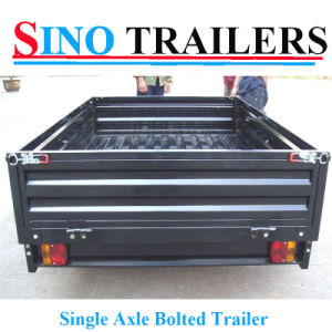 Aussie Single Axle Trailer with Heavy Duty Box pictures & photos