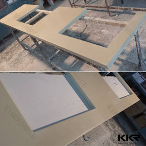 Modern Hotel Furniture Solid Surface Kitchen Countertop with Sink Hole (C170916) pictures & photos