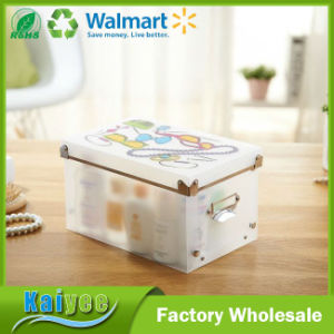 Clear Plastic PP Clothes Toy Storage Box with Lid pictures & photos