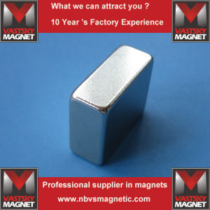 Custom N35-N52 Super Strong Permanent NdFeB Neodymium Block Magnet pictures & photos