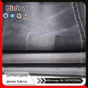10.7 Oz Weight Slub Denim Fabric 98/02 Cotton Lycra Denim Fabric pictures & photos