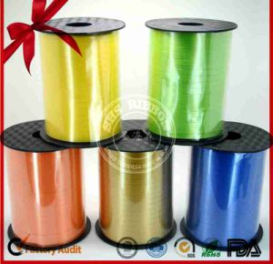 Glitter Gold Color Curly Ribbon String for Fruit Basket Packaging pictures & photos