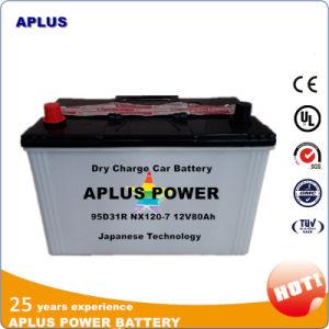 Hot Sale JIS Dry 12V Car Batteries 80ah 95D31r Nx120-7 pictures & photos