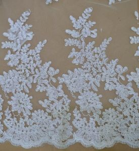 Flower Pattern Delicate Wave Lace Fabric C30003 pictures & photos