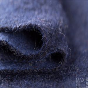 Mohair and Wool Mixed Wool Fabric for Winter Coat in Navy Blue pictures & photos