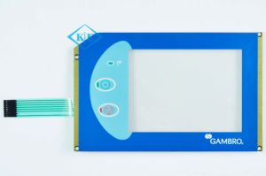 Industrial Resistive LED Touch Screen with Embossed Membrane Overlay pictures & photos