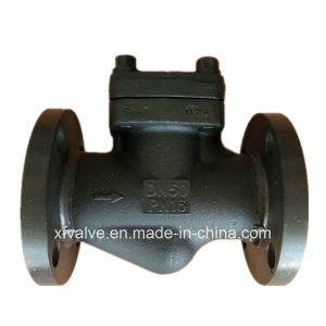 DIN Forged Steel A105 Flange Connection End Lift Check Valve