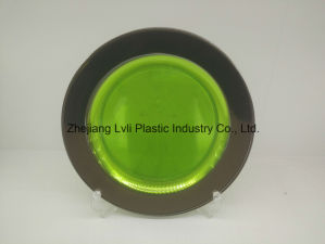 Plastic Plate, Disposable, Tableware, Tray, Dish, Colorful, PS, SGS, Silver Rim Plate, PA-02 pictures & photos
