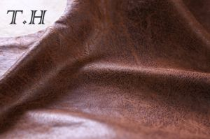 Upholstery Suede Fabric with Hot Stamping (FTX37315) pictures & photos