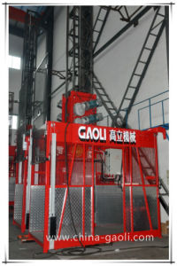 1t*2 High Speed Double Cage Construction Passenger Elevator /Hoist pictures & photos