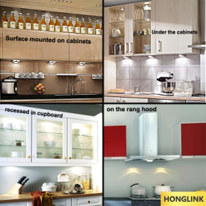 3W COB Aluminum Round Under Cabinet Light LED Furniture Light pictures & photos