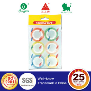 Rainbow Tape with 6 Colors in Clear Bag pictures & photos
