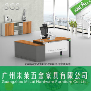 Best Quality L Shape Modern Office Desk with Stainless Steel Leg pictures & photos