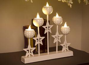 Candle Metal Bridge Warm White LED Decoration pictures & photos