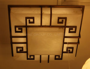 European Interior Decorative Lighting Made of Spanish Marble, Ceiling Lamp pictures & photos