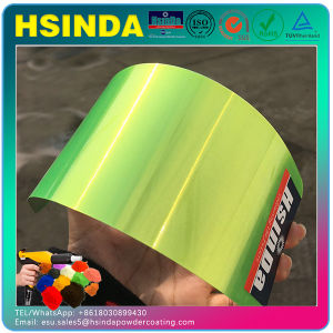 Electrostatic Spray Paint Fluorescence Effect Candy Green Acrylic Powder Coating pictures & photos