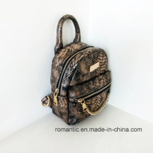 Wholesale Designer Ladies Snake Leather Mini Backpack (NMDK-042801) pictures & photos