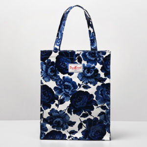 Blue Flowers PVC Canvas Shopping Bag (9923-22)