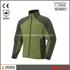 Custom Waterproof Wear 3 Layer Softshell Mens Jacket pictures & photos