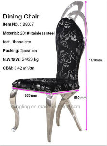 Upholstered Fabric Black Metal Dining Chair Furniture Online pictures & photos