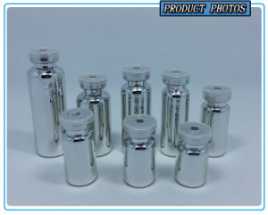 High Quality Slive Electroplated Glass Tube Bottle pictures & photos