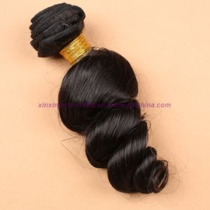 3/4 Bundles Mongolian Virgin Hair Weft Loose Wave with Silk Base Closure Wavy Hair Extensions with Silk Base Closure pictures & photos