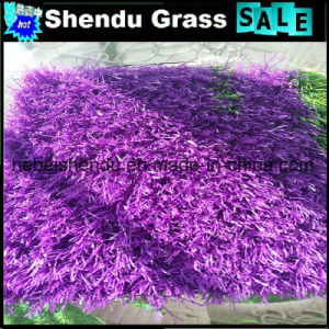 Soft Artificial Purple Grass for Indoor Balcony Floor pictures & photos